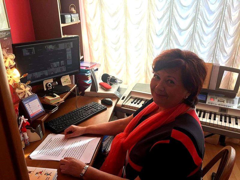 Naša profesorica Olga Ulokina na seminarju za glasbene pedagoge
