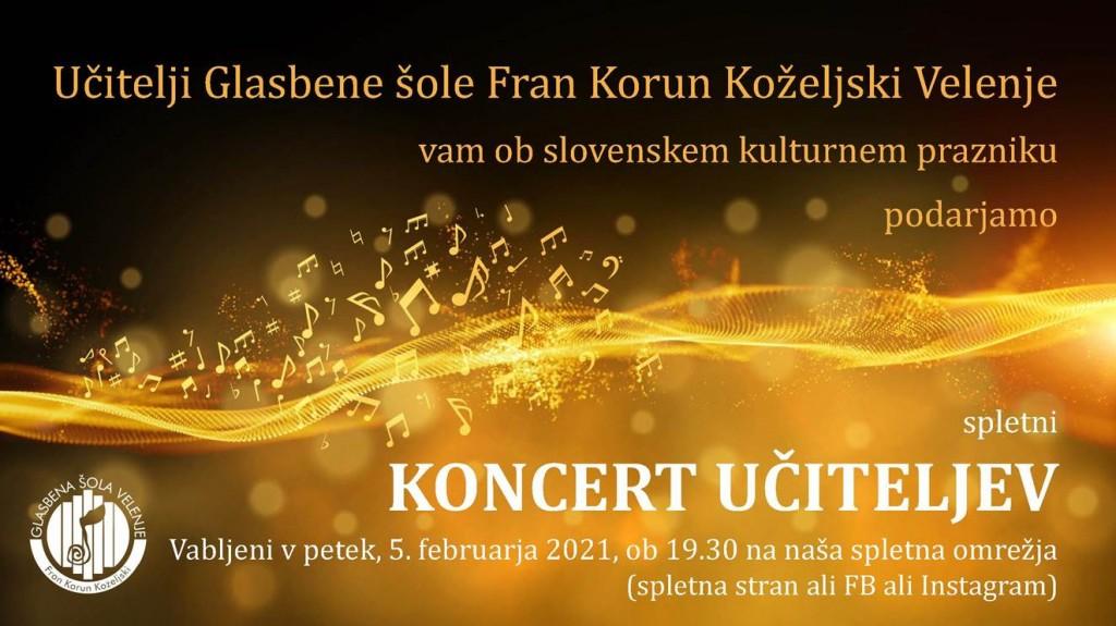 Premiera spletnega koncerta učiteljev Glasbene šole Velenje