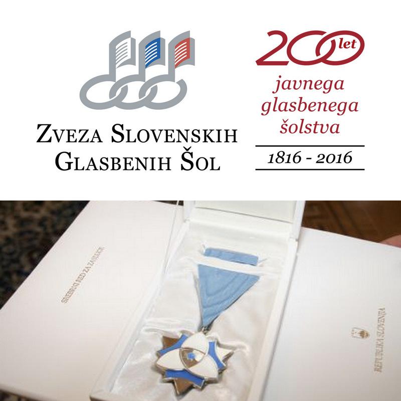 Srebrni red za zasluge za Zvezo slovenskih glasbenih šol!