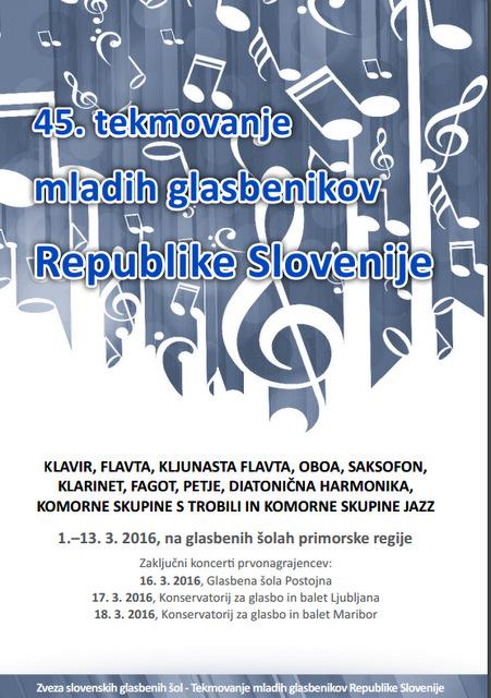45. tekmovanje mladih glasbenikov Republike Slovenije
