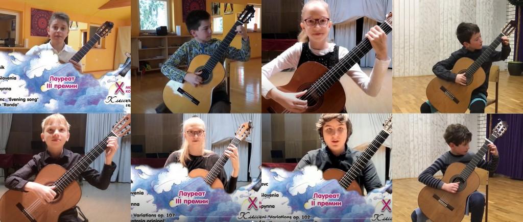 Naši tekmovalci uspešni na spletnem tekmovanju kitaristov v Rusiji