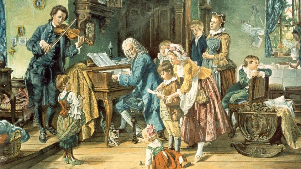 Miklavžev večer pri družini Bach