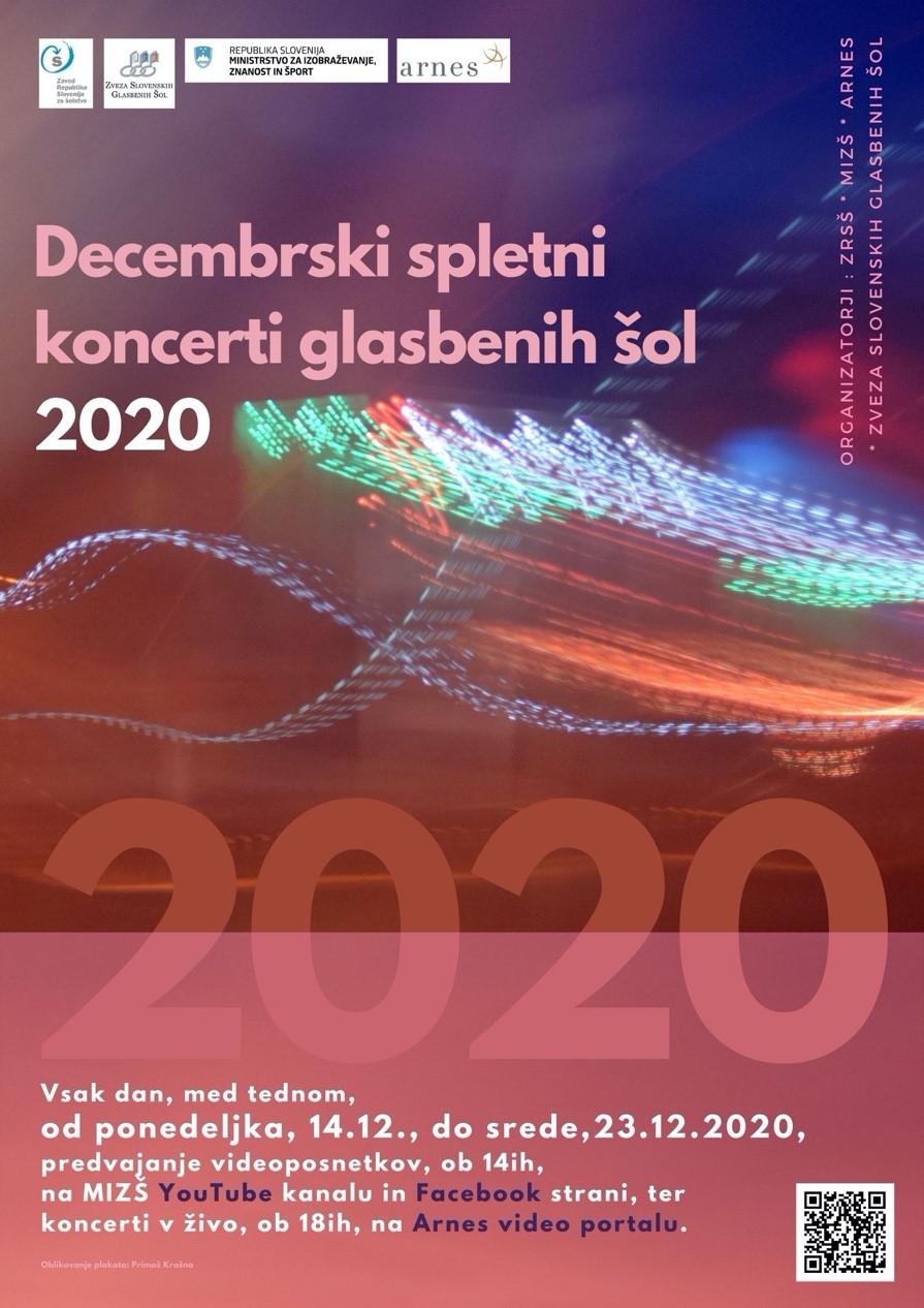 Decembrski spletni koncerti glasbeni šol 2020