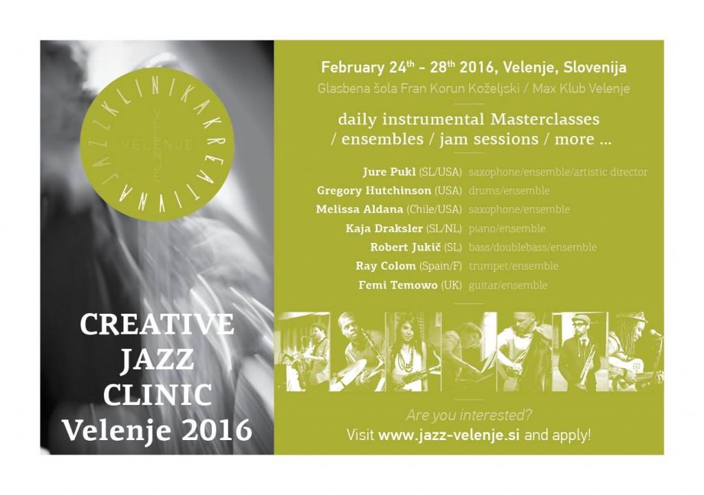 Kreativna jazz klinika - 24. - 28. februar 2016
