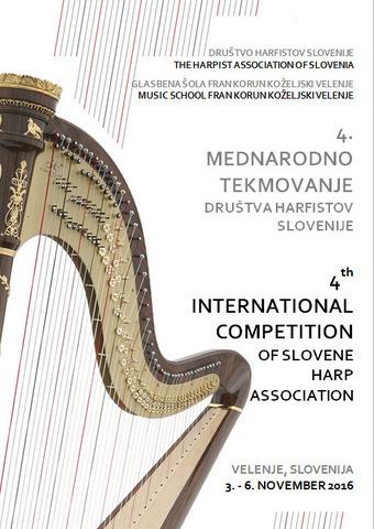 4. mednarodno tekmovanje Društva harfistov Slovenije - prvi rezultati