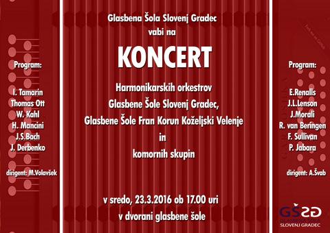 Gostovanje harmonikarjev Glasbene šole Velenje v Slovenj Gradcu