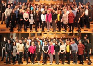 Fotografiji učiteljskega in profesorskega zbora