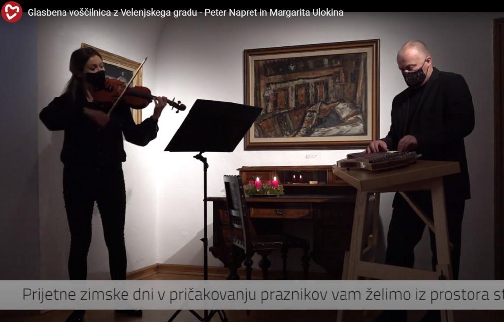 Glasbena voščilnica z Velenjskega gradu, 12. 12. 2020